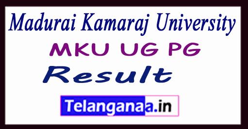 Madurai Kamaraj University Result MKU UG PG Results