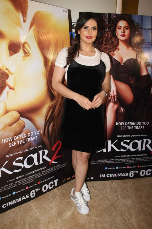 Zareen Khan, Gautam Rode and Sreesanth at Aksar 2 Trailer Launch