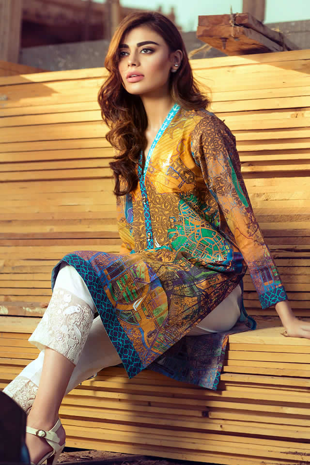 Gul Ahmed Digital  Dreams Nautica Spring Collection 2016