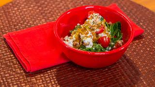 Salada de abóbora com queijo de cabra