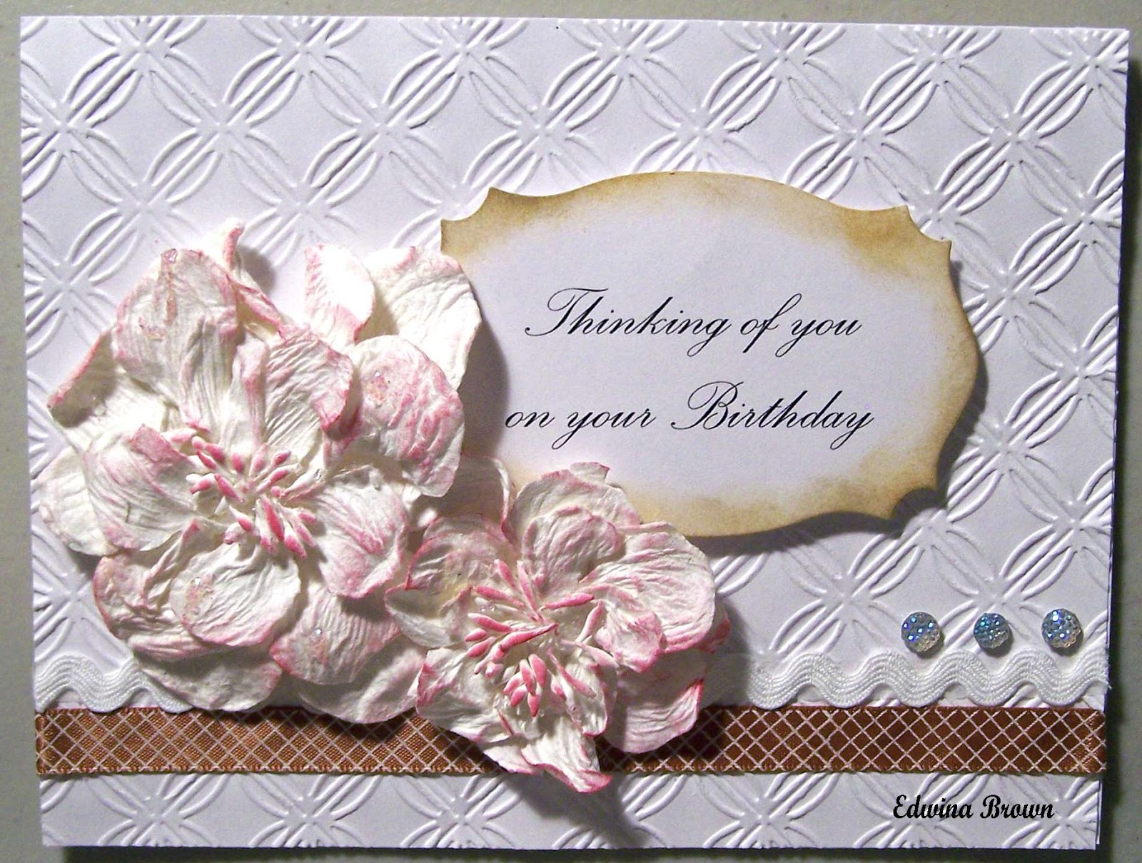 Edwinas Creations Thinking Of You On Your Birthday Card
