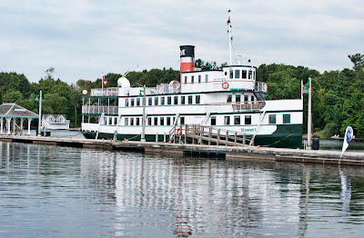 One of reproduction tour boats in Gravenhurst harbour.