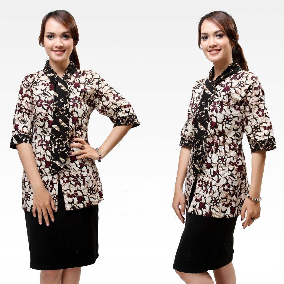 Baju Batik Kerja Sederhana: Model Baju Batik Wanita