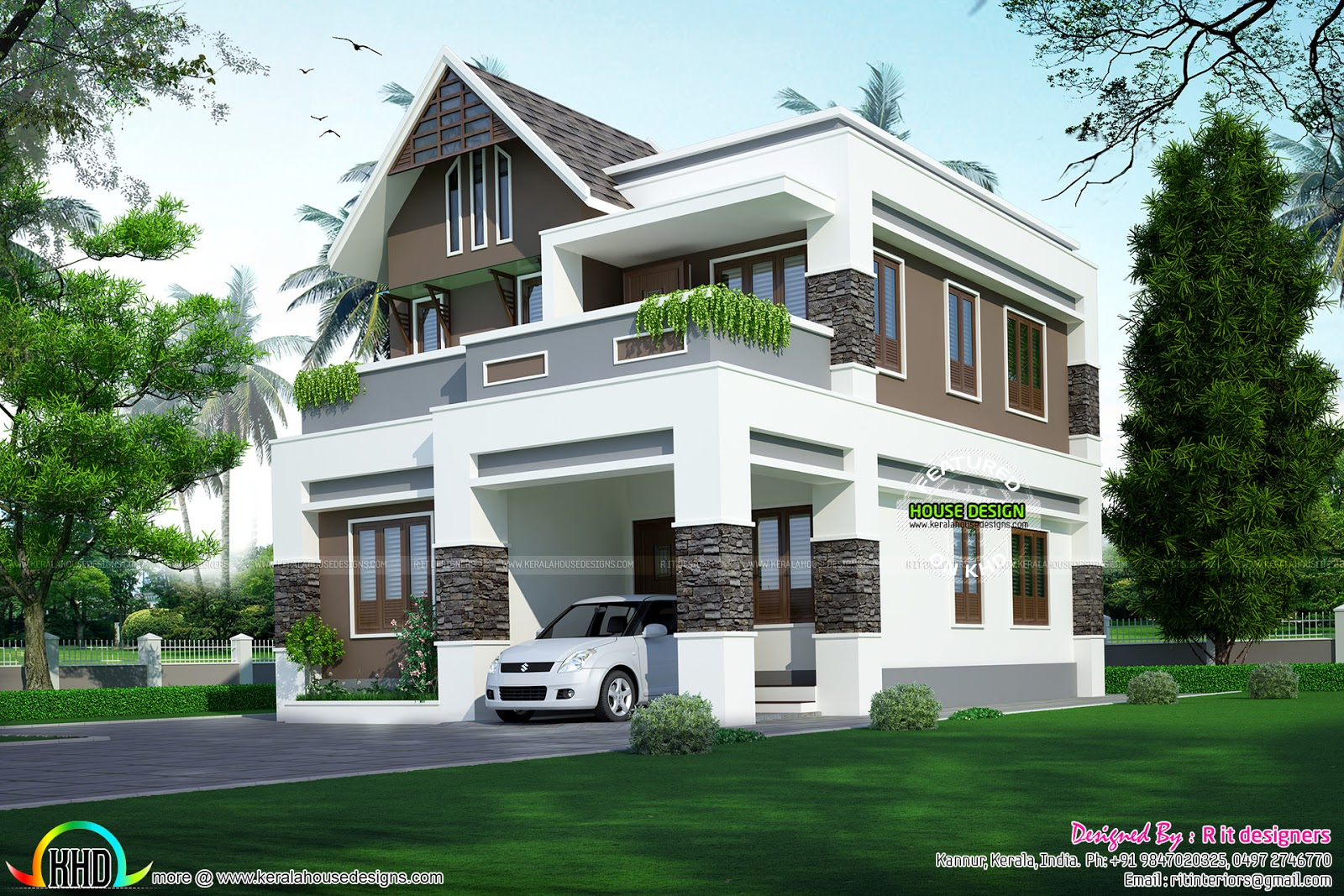Cute and small indian home plan home design decor for Small indian house images