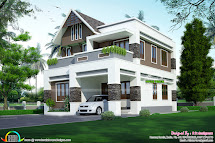 Cute And Small Indian Home Plan - Kerala Design