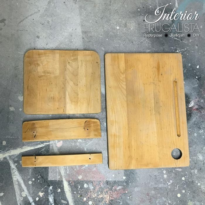 Vintage Classroom Desk Sanded Wood