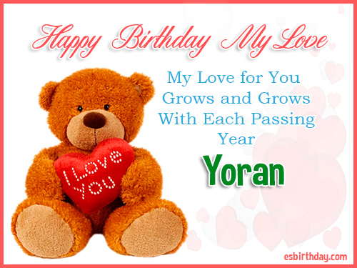 Yoran Happy Birthday My Love