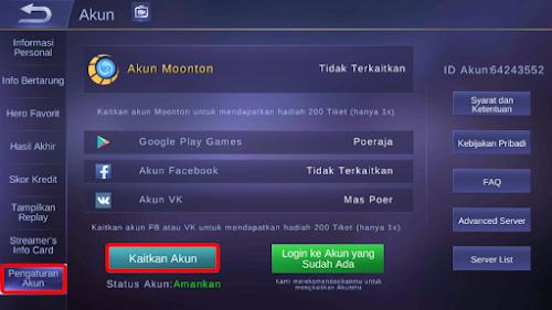 Cara Menciptakan Akun Moonton Di Mobile Legends
