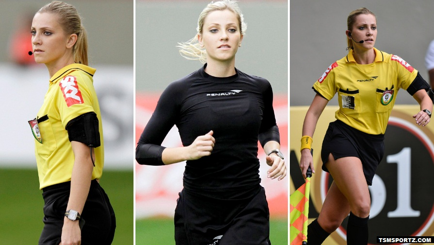 Hottest Football female football referee Fernenda Colombo
