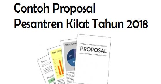 Contoh Proposal Pesantren Kilat 2018 Informasi Pendidikan