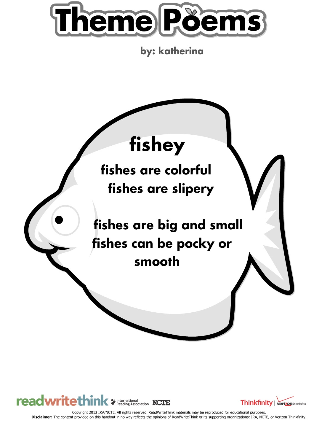 Lessons from a laughing librarian technology tuesday for The fish poem