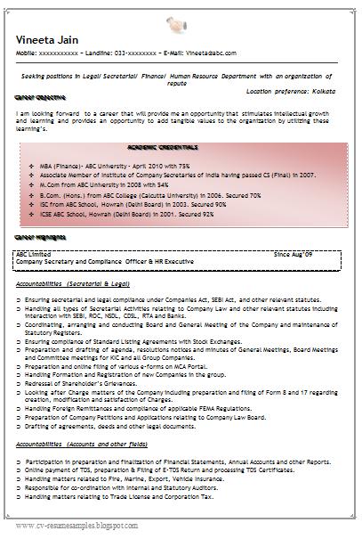 Compliance associate resume sample