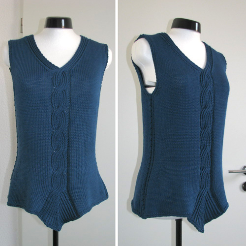 Twisted Rib Cable Tank - Free Pattern