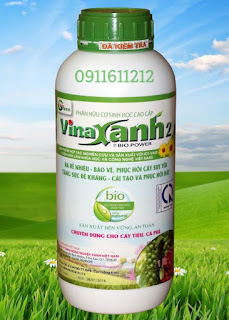 Phân hữu cơ sinh học Vinaxanh 2 tưới gốc