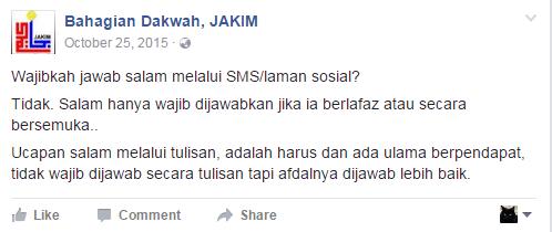 Wajibkah Jawab Salam di Facebook?
