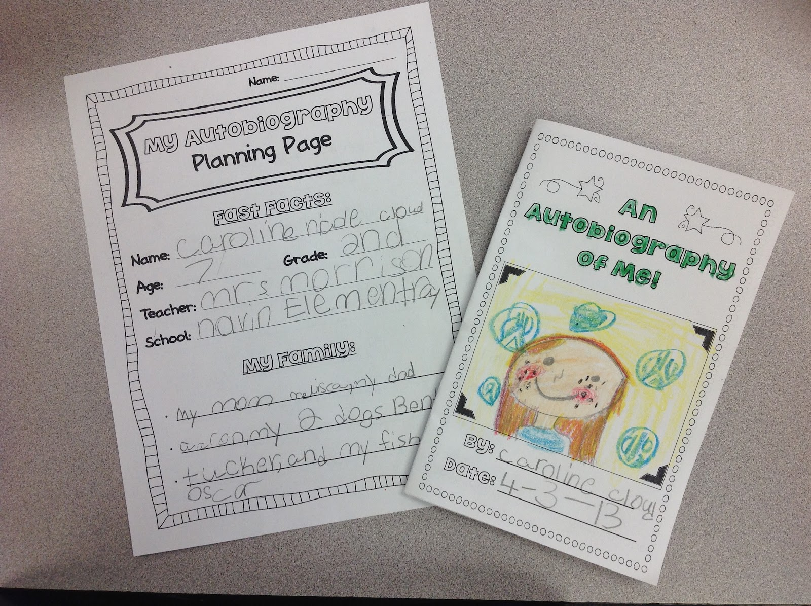 The Open Door Classroom: Autobiography Writing Unit