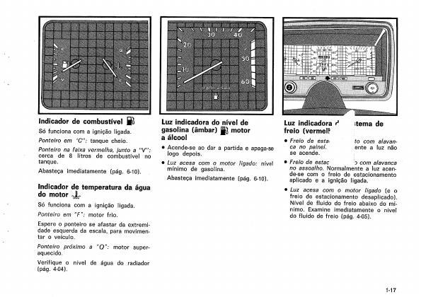 MANUAIS DO PROPRIETÁRIO: GM OPALA V6 1986