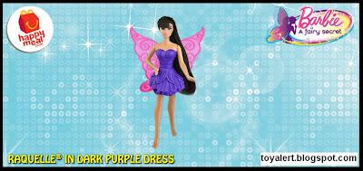 McDonalds Barbie A Fairy Secret happy meal toy 2011 Fairy Barbie in Purple Dress