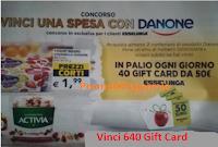 Logo Vinci una spesa con Danone : in palio 640 Gift Card Esselunga da 50€. Anticipazione!