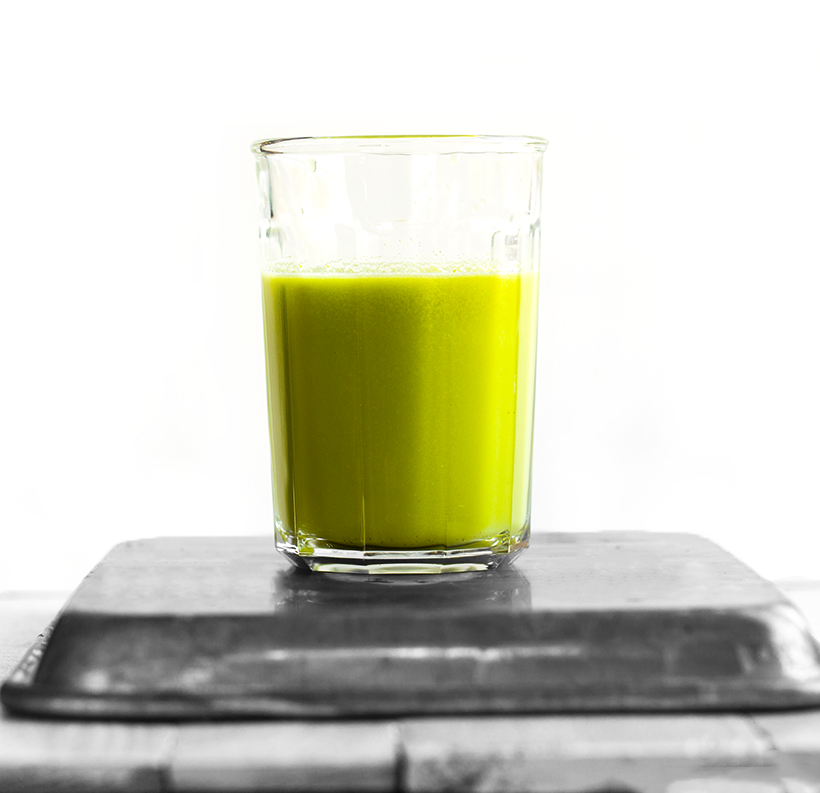 Spicy Green Apple Ginger Celery Juice