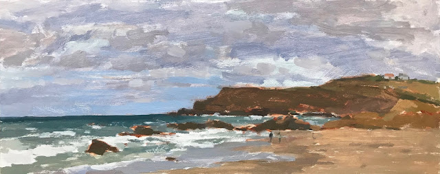 #360 'Widemouth Bay' 20x50cm