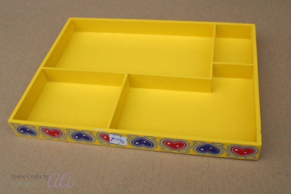 Wood multiple section melissa and doug tray