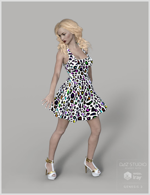 Braces Sun Dress for Genesis 3 Female