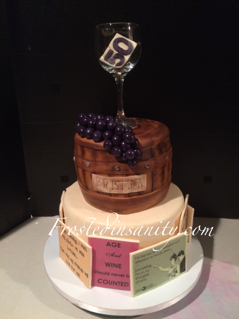 Frosted Insanity Wine Lovers Birthday Cake