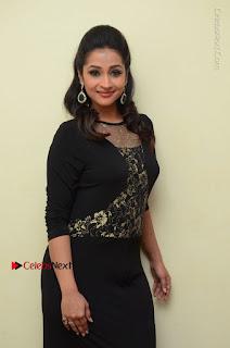 Telugu Actress Manasa Manohar Stills in Black Long Dress at Naku Nene Thopu Turumu Trailer Launch  0022.JPG