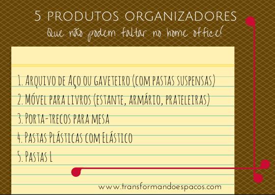 5 produtos organizadores que não podem faltar no home office
