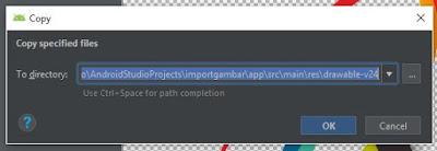 cara import gambar ke android studio dengan mudah