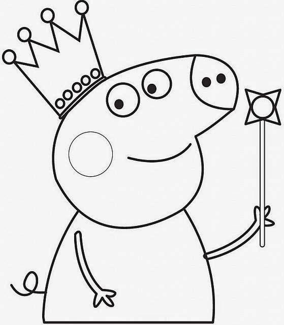 Baú Da Web: Peppa Pig Desenhos Para Pintar E Imprimir