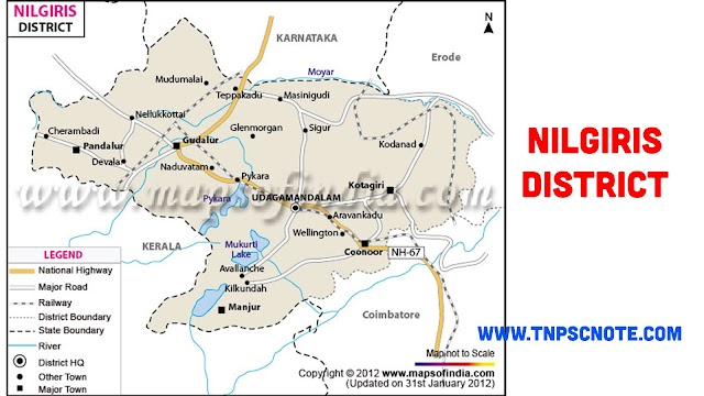 Nilgiris District Information, Boundaries and History from Shankar IAS Academy