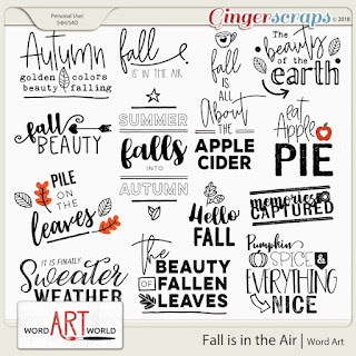 $1 Bake Sale, NEW Fall Word Art  + October Freebie!