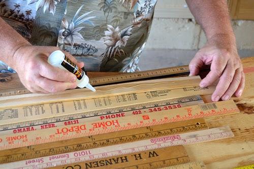 Diy Vintage Yardstick Homework Desk Ilovetocreate