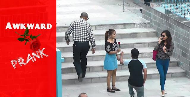 Nepali Prank - Awkward Rose Prank