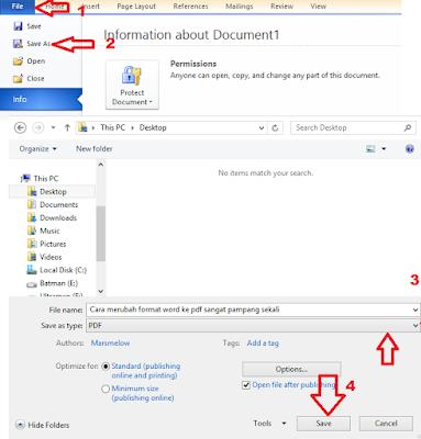 3 cara merubah word ke pdf