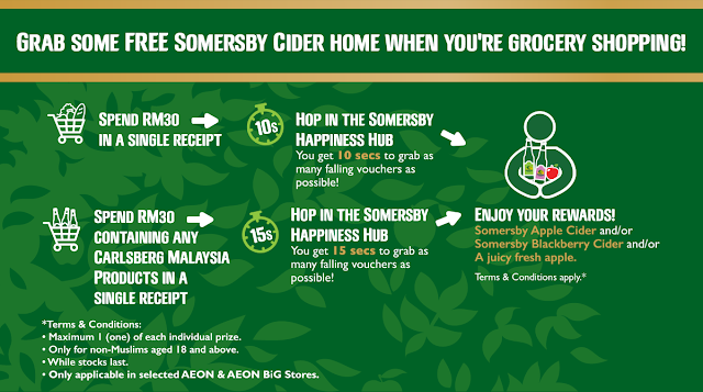 Free Somersby Cider AEON