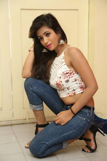 Deekshita Parvathi in a short crop top and Denim Jeans Spicy Pics Beautiful Actress Deekshita Parvathi January 2017 CelebxNext (94).JPG