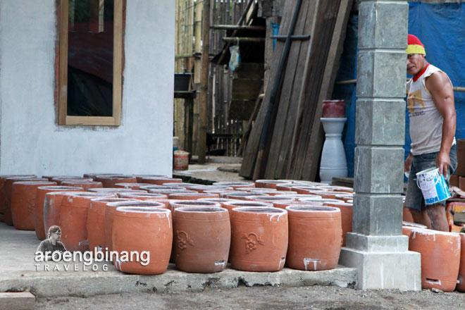 motif bunga keramik pulutan minahasa sulawesi utara