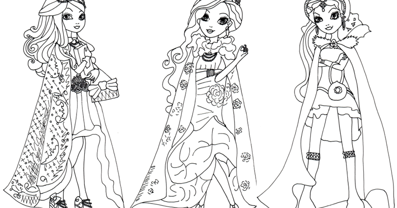 Free Printable Ever After High Coloring Pages: Ever After