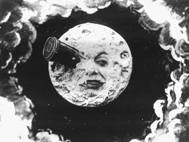 Georges Méliès's iconic moon from A Trip To The Moon (1902)