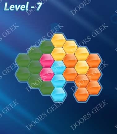 Block! Hexa Puzzle [5 Mania] Level 7 Solution, Cheats, Walkthrough for android, iphone, ipad, ipod