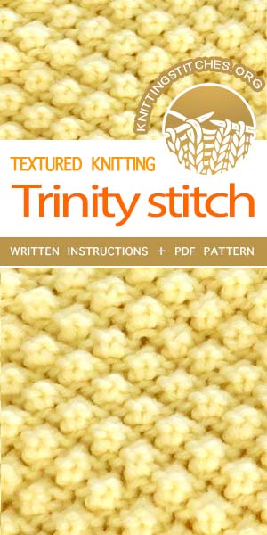 Knitting Stitches -- LEARN TO KNIT Trinity bobble stitch. Making Bobbles  #learntoknit #knittingstitches