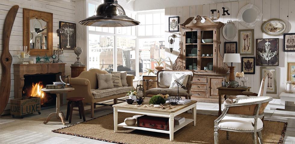 Boiserie c arredamento in stile new industrial vintage for Arredamento soggiorno stile provenzale
