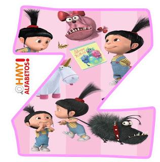 Alfabeto de Agnes de Mi Villano Favorito. Agnes of Despicable Me Alphabet.