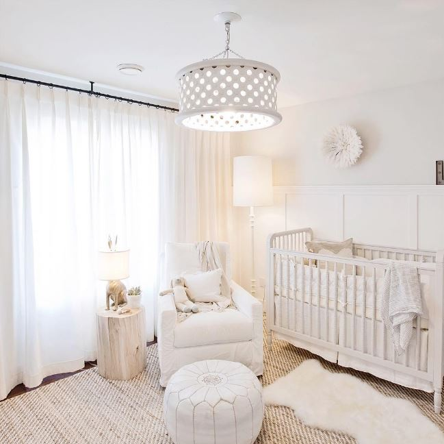all white nursery for boy or girl