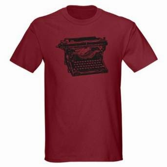 old fashioned typewriter t-shirt