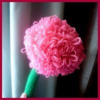 Flor gigante amigurumi