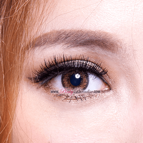 Mi Sunflower Brown Toric Circle Lenses Close-up